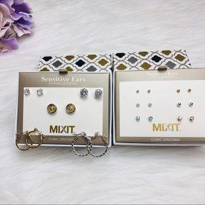 MIX IT Cubic Zirconia Diamond stud earrings